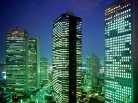 Обои Небоскрёбы в Токио: Небоскрёбы, Япония, Токио, Tokyo, Небоскрёбы