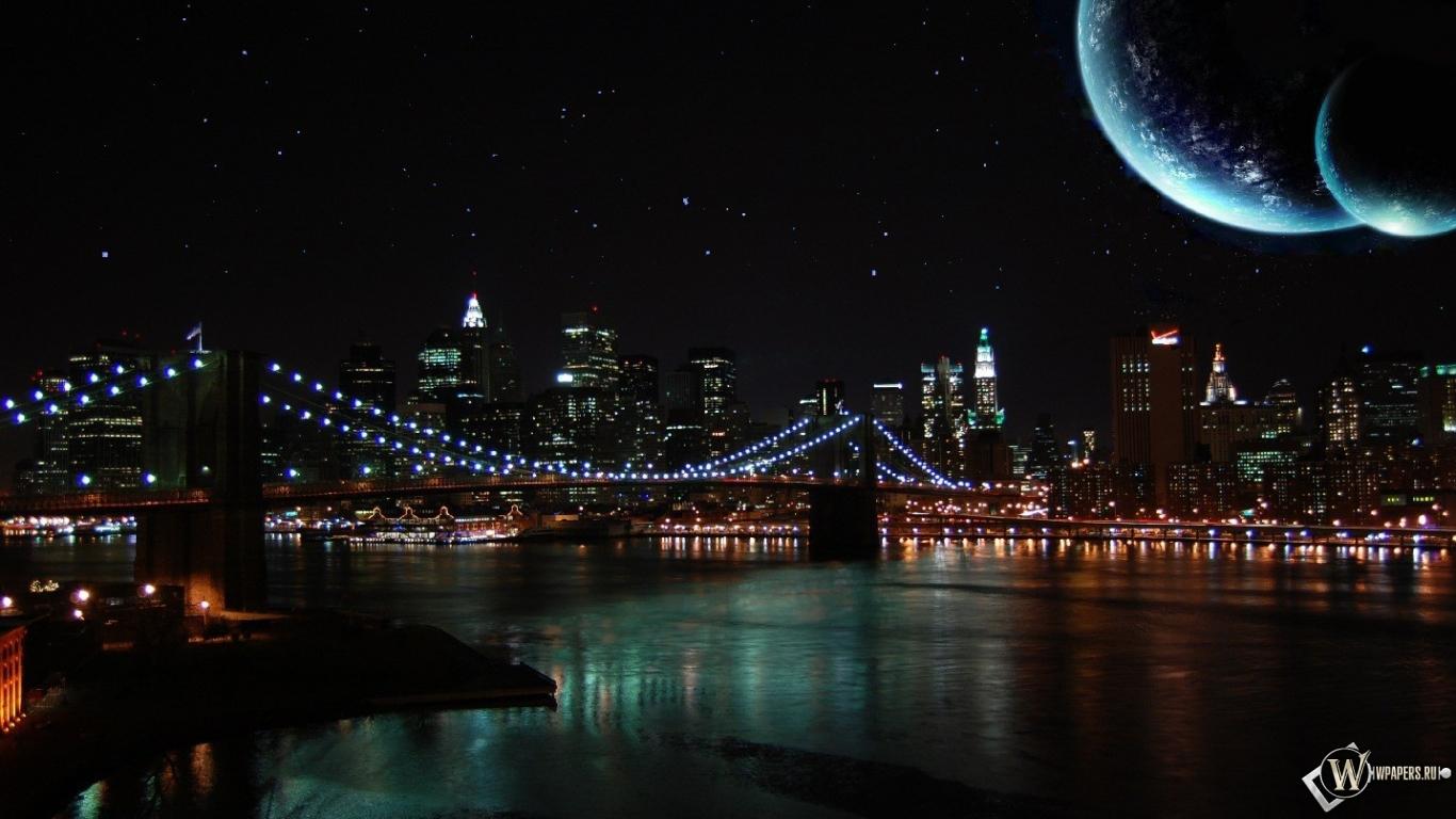 на рабочий стол картинки ночной город
