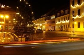 Обои Дорога в Радеберге: Огни, Дорога, Ночь, Германия, Города