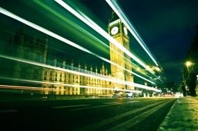 Обои Лондон: Дорога, Вечер, Великобритания, Часы, Лондон, Города