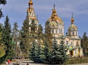 Обои Церкви Казахстана: Парк, Церковь, Казахстан, Города
