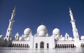 Обои Мечеть шейха Заида в Абу-Даби: Мечеть, Площадь, Арка, Города