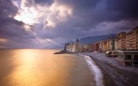Обои Прибрежный город: Пляж, Песок, Город, Пейзаж, Вид, 3D Города
