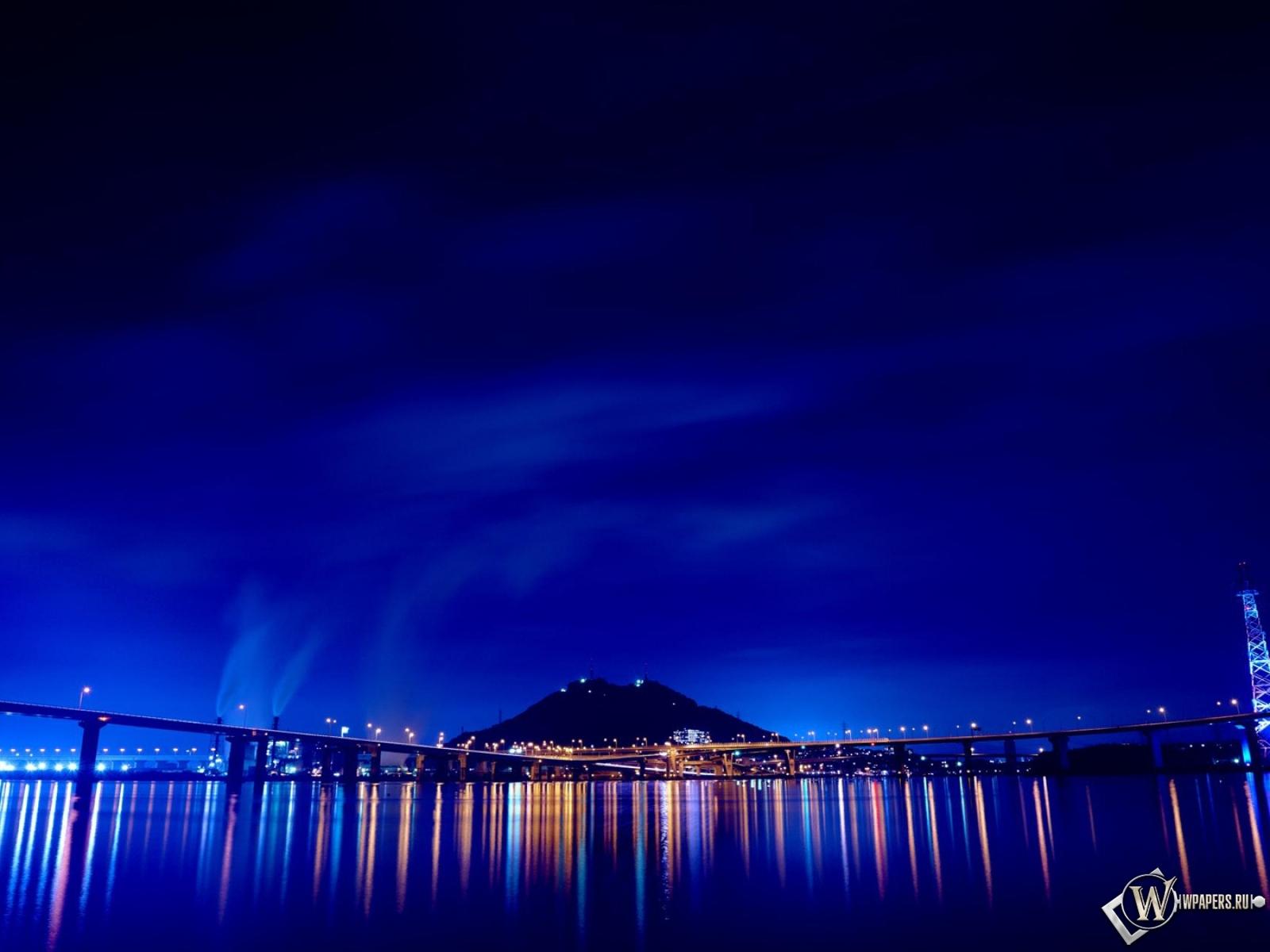 Мост огни ночь  № 3716525 загрузить