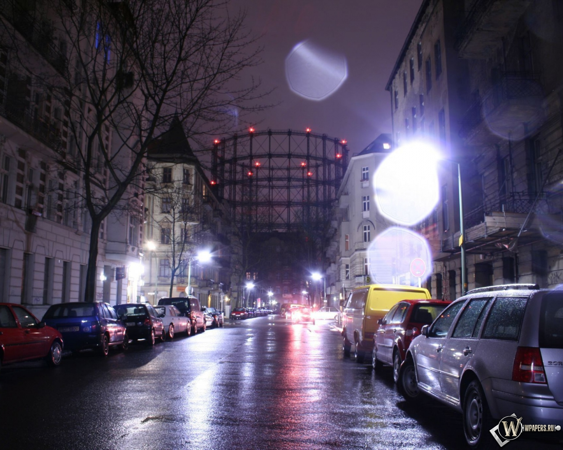 Франция дороги ночь фонари  № 2229249  скачать