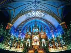 Обои Базилика Нотр-Дам Монреаль Канада: Канада, Архитектура, Монреаль, Города