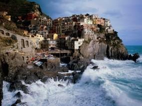 Обои Италия: Горы, Италия, Волна, Города