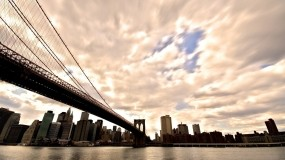 Обои Бруклинский мост Нью-Йорк: Мост, New York, манхэттен, нью йорк, Города