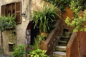 Обои Дом в Италии: Город, Дом, Италия, Лестница, Города