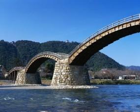 Обои Архитектура Японии: Река, Мост, Япония, Города