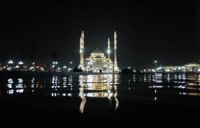 Обои Мечеть в Грозном Чечня: Мечеть, Город, Города
