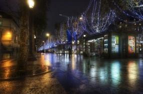 Обои Париж Франция: Город, Франция, Ночь, Париж, Города