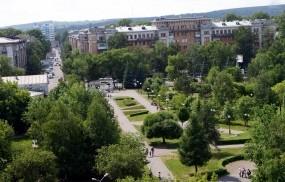 Обои Новокузнецк парк Гагарина: Город, Новокузнецк, Города