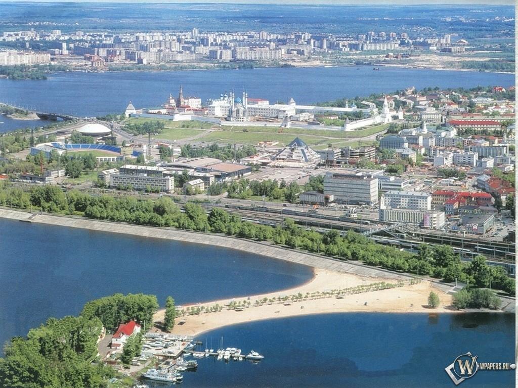 Казань (вид на центр города) 1024x768