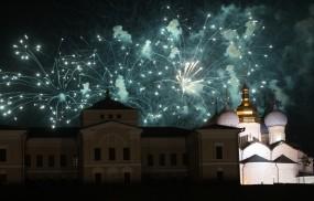 Обои Салют над церковью: Казань, Церковь, Салют, Казань