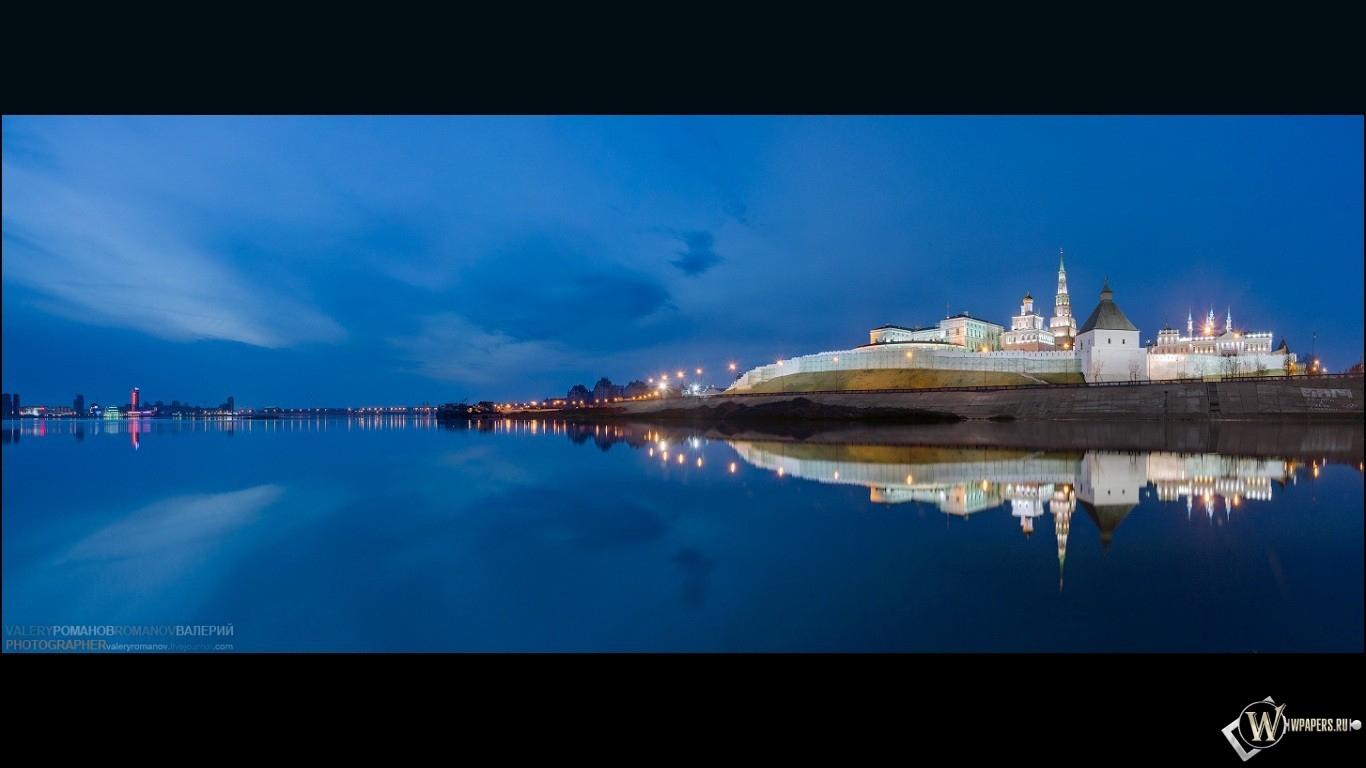 Казань предрассветная 1366x768