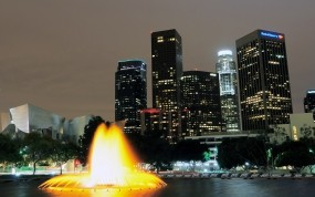 Обои Los Angeles: Город, Вечер, Небоскрёбы, Небо, Лос-Анджелес, Los Angeles, Небоскрёб, Los Angeles