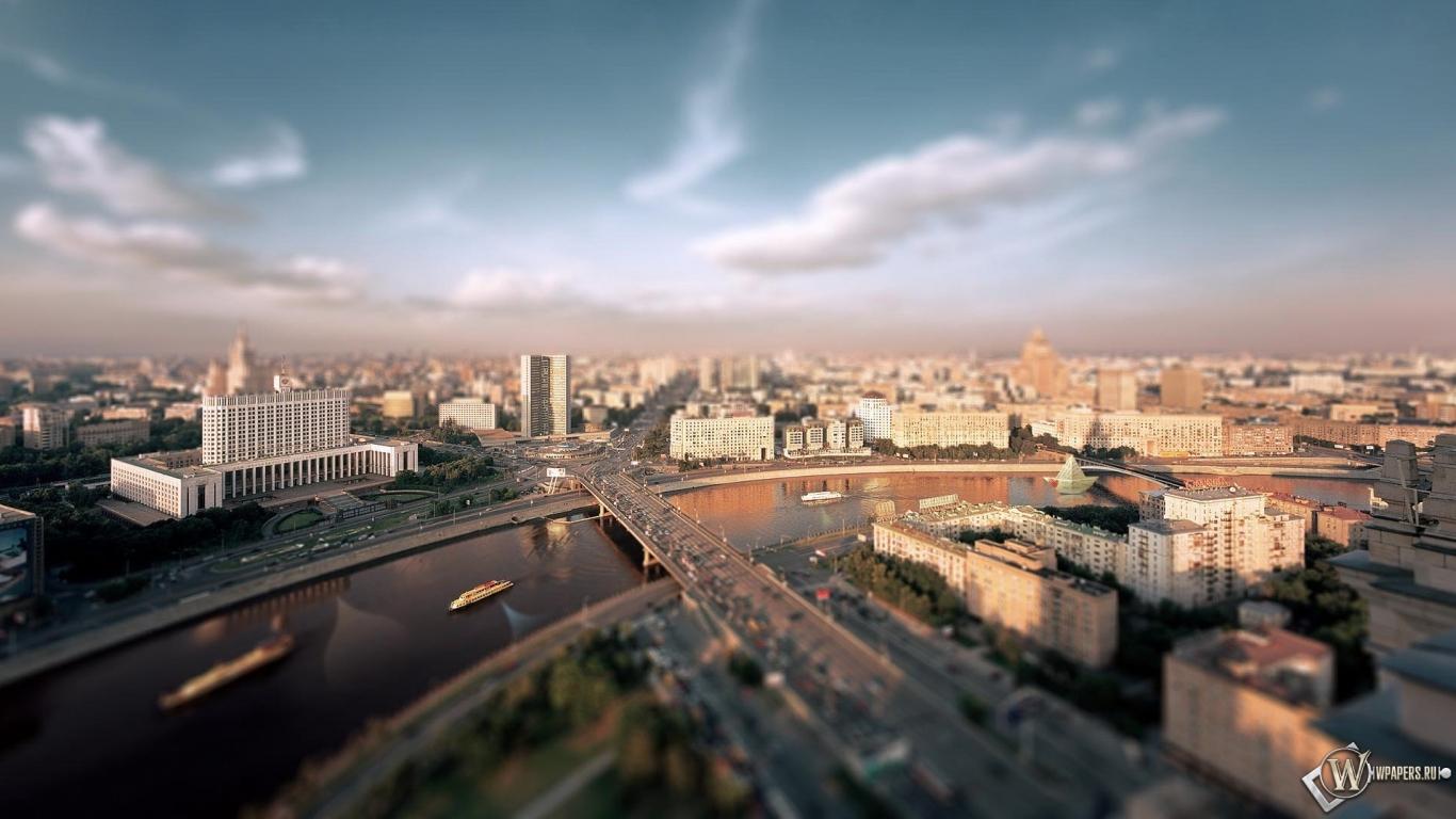 Утренняя москва река дома москва