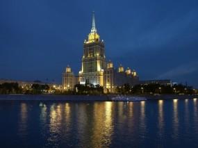 Обои Гостиница Украина Москва: Река, Москва, Гостиница, Москва