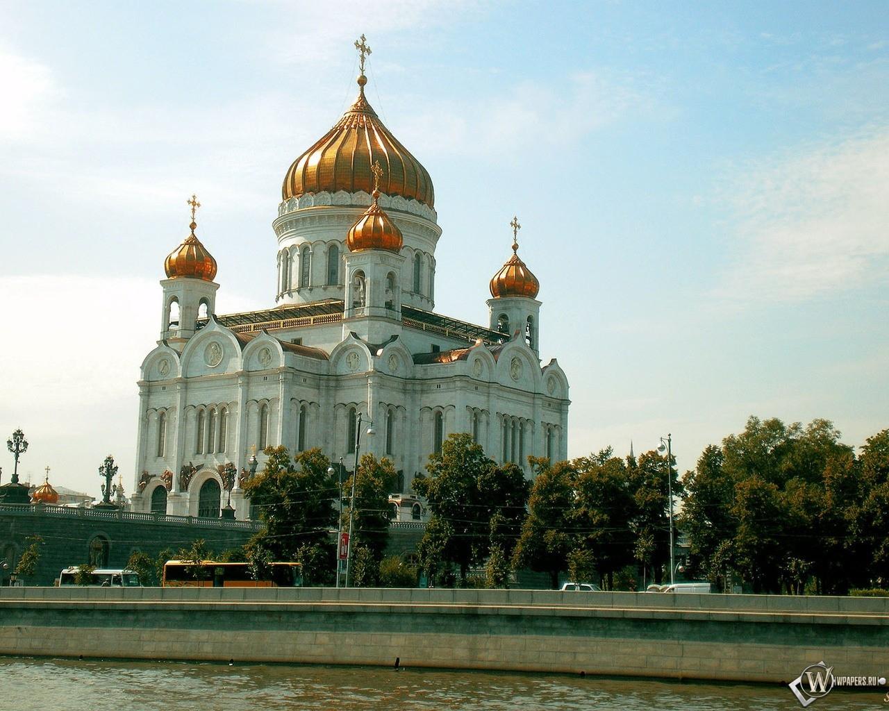 Обои храм христа спасителя москва на