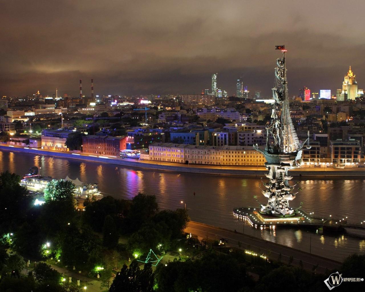 Ночная Москва 1280x1024