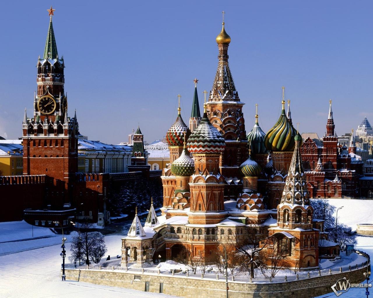 Москва храм кремль москва 1280x1024