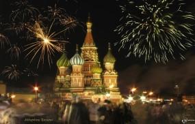 Обои Москва Салют на площади: , Москва