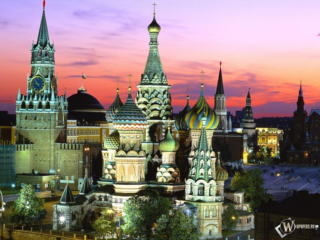 Москва красная площадь 1024x768