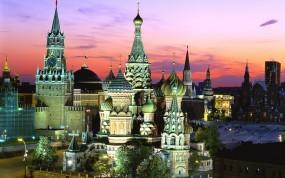 Обои Москва - Красная площадь: Россия, Москва, Спасская башня, Храм Василия Блаженного, Красная площадь, Москва