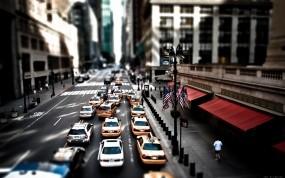 Обои Такси Нью-Йорка: Город, Улица, Нью-Йорк, такси, New York