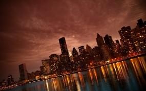 Обои Манхэттен: Город, Ночь, Manhattan, New York