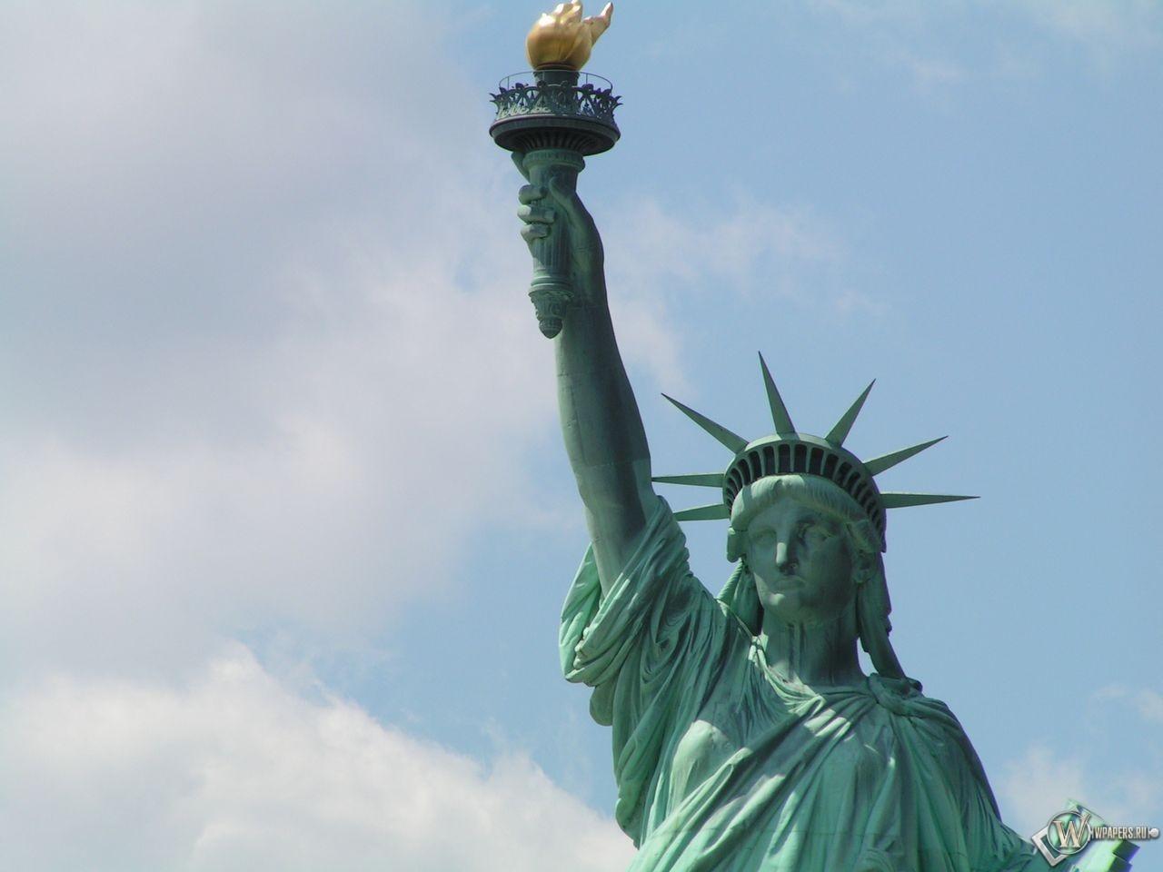 New York статуя свободы 1280x960