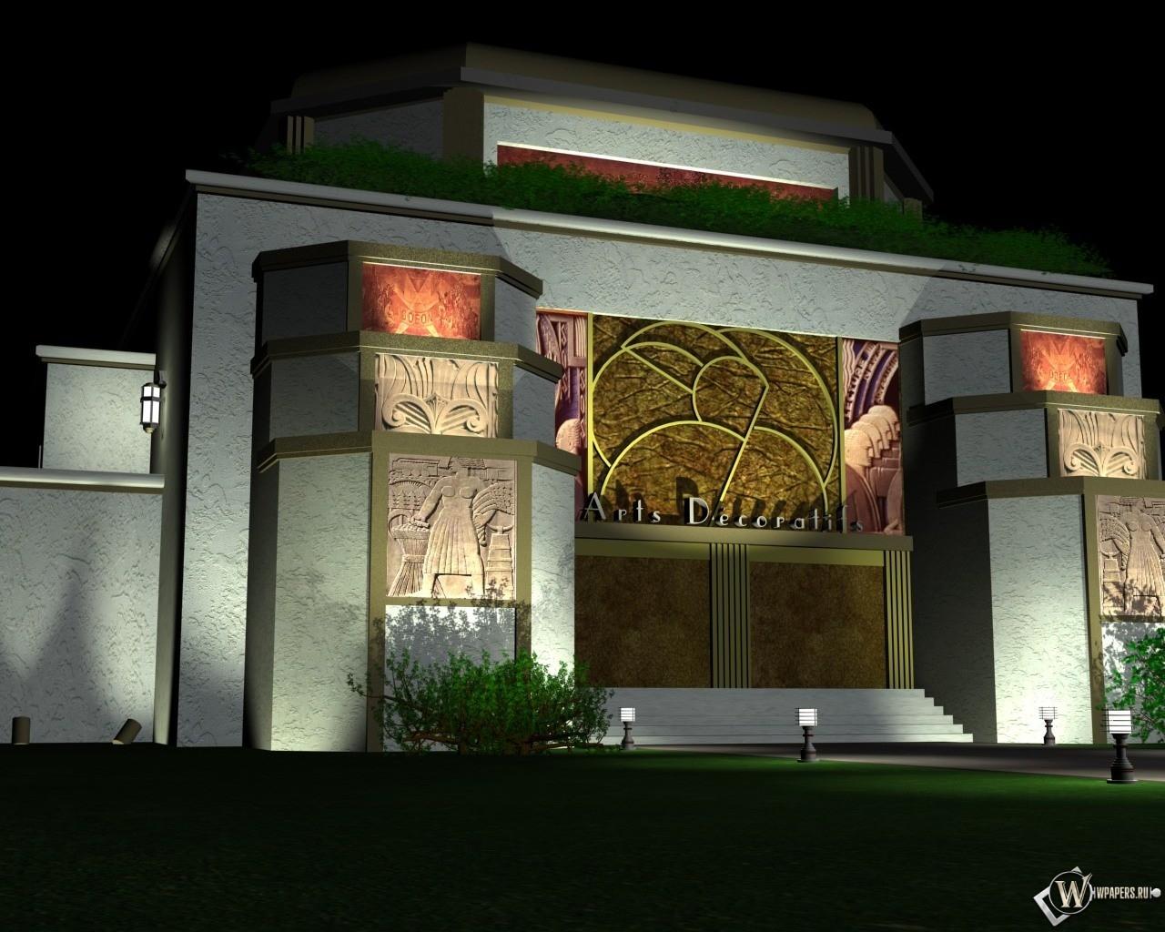 Art Deco Building - New York 1280x1024