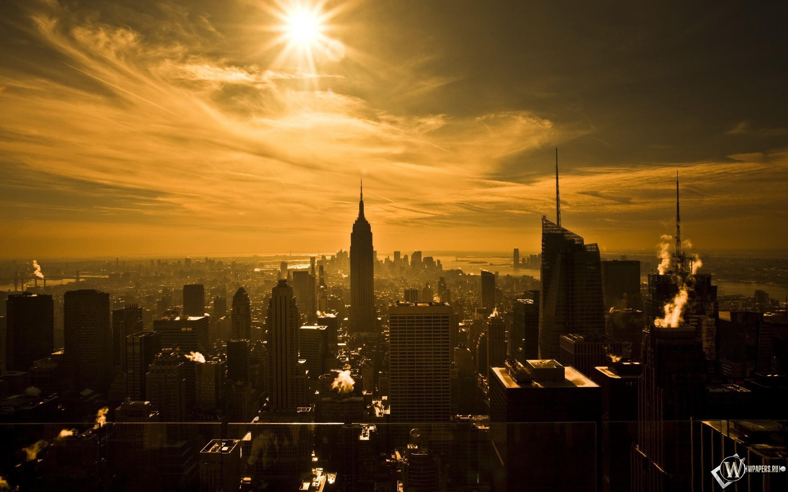 Восход над Нью-йорком 2560x1600