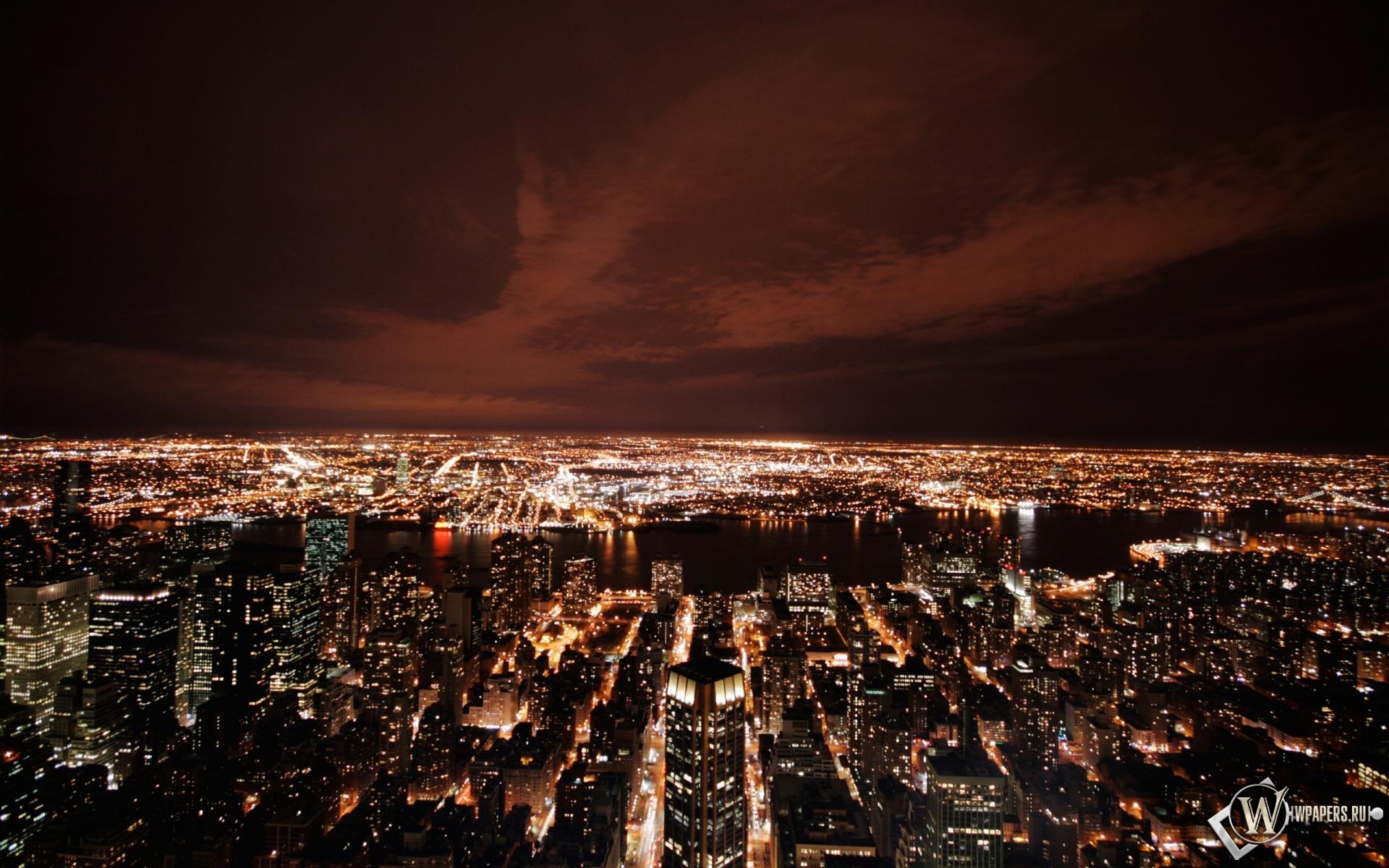 New York в ночи 1920x1200