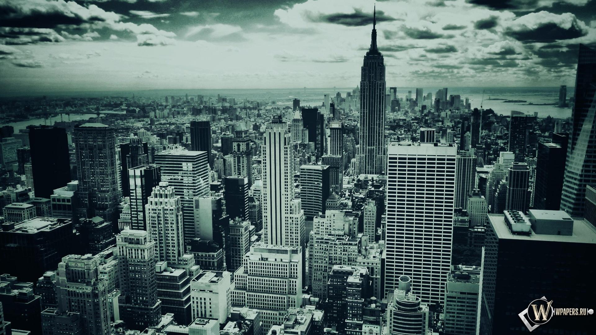 Скачать обои New York minute (Город, Мегаполис, Ч/б, Нью-Йорк, New ...