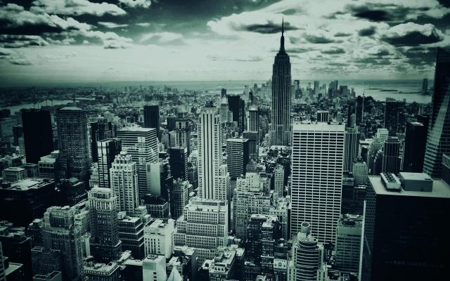 Мегаполис ч б нью йорк new york new york