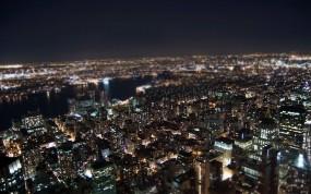 Обои Огни нью-йорка: Огни, Ночь, Нью-Йорк, Tilt-shift, New York