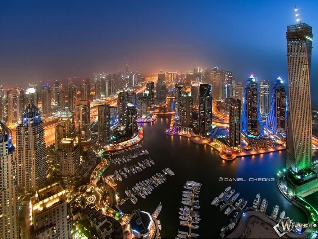 Скачать обои Дубай (Дубай, ОАЭ) для рабочего стола 1024х768 (4:3 ...
