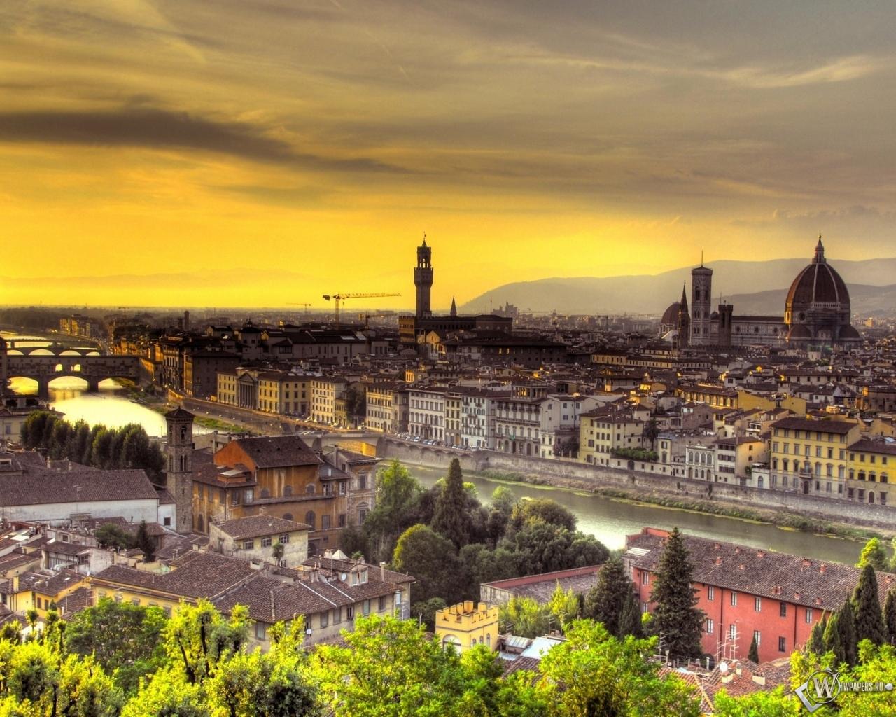 Флоренция италия 1280x1024 картинки