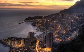 Обои Monaco: Ночь, Монако, Города, Прочие города