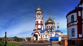 Обои Новокузнецк Собор Рождества Христова : Храм, Церковь, Собор, Архитектура, Новокузнецк, Прочие города