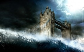Обои Шторм в Лондоне: Волны, Шторм, Лондон, Англия, Прочие города