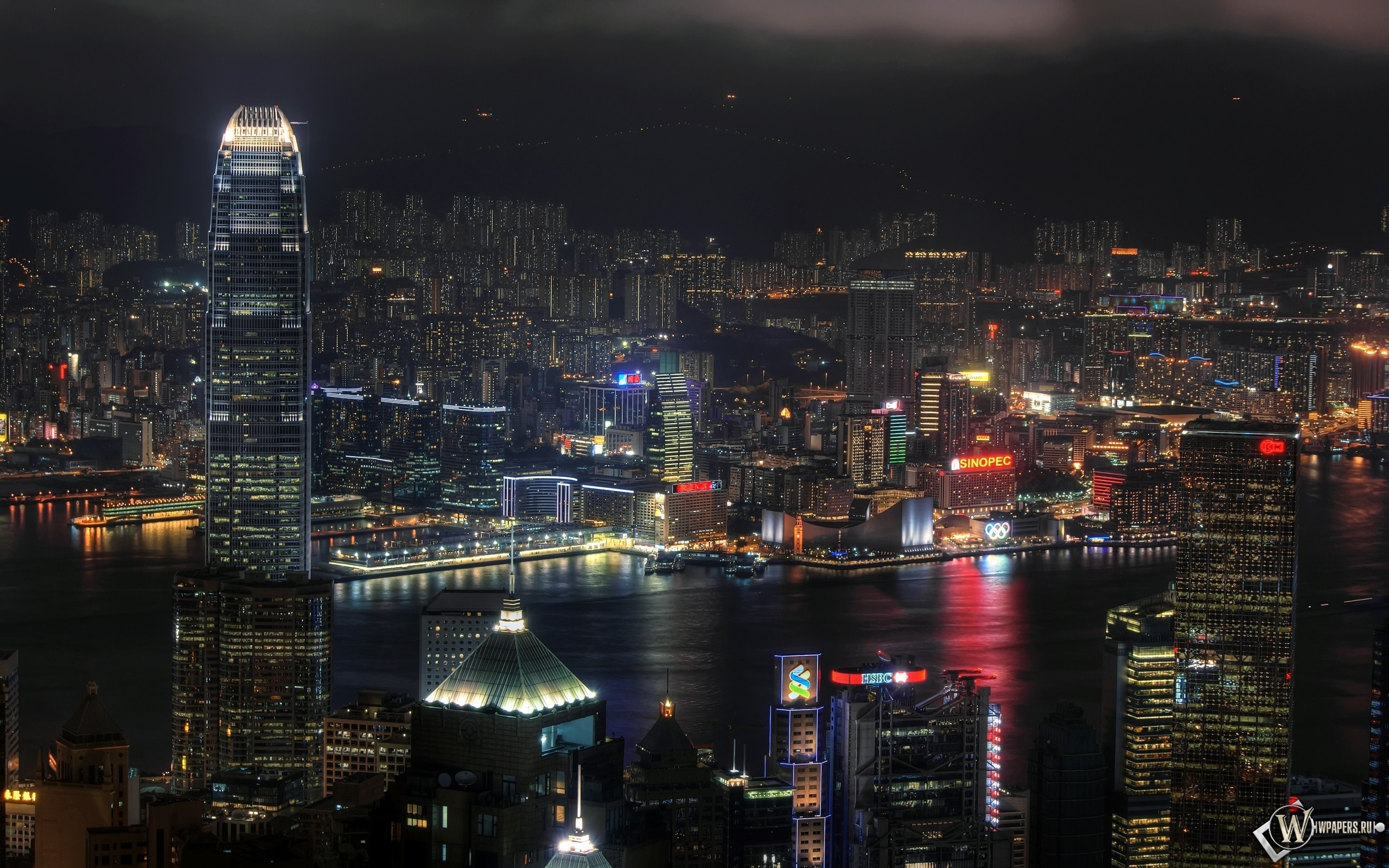 Ночной Гонконг 2560x1600