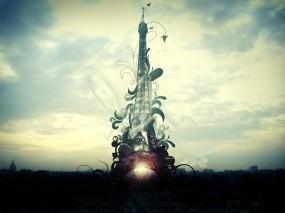 Обои Фантазийная Эйфелева башня: Эйфелева башня, Обработка, Прочие города