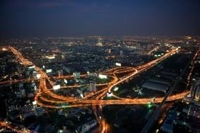 Обои Бангкок Байок Скай: Город, Ночь, Здания, Прочие города