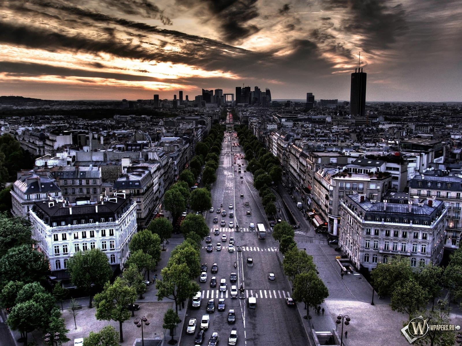 Франция Париж 1600x1200