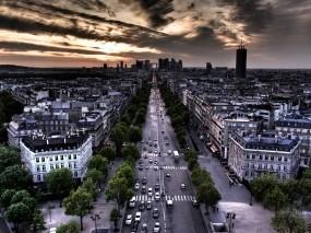 Обои Франция Париж: Город, Тучи, Здания, Прочие города