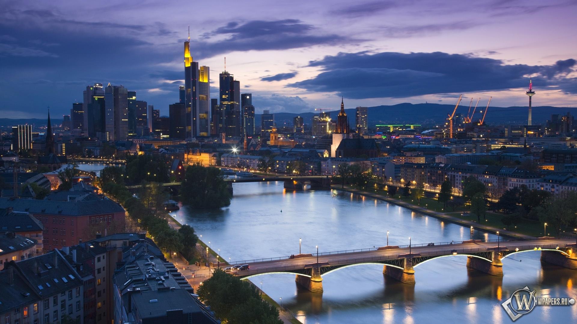 Франкфурт Германия 1920x1080