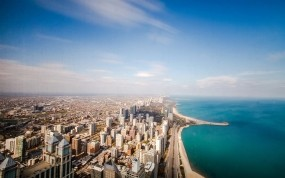 Обои Чикаго штат Иллинойс: Небоскрёбы, Небо, Чикаго, Прочие города
